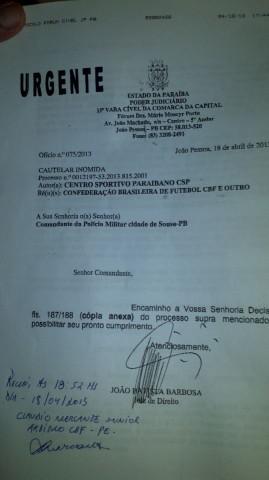 Polícia Militar intervém e garante cancelamento de Sousa x Coritiba