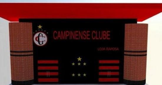 Nova loja do Campinense está sendo construída na sede do clube