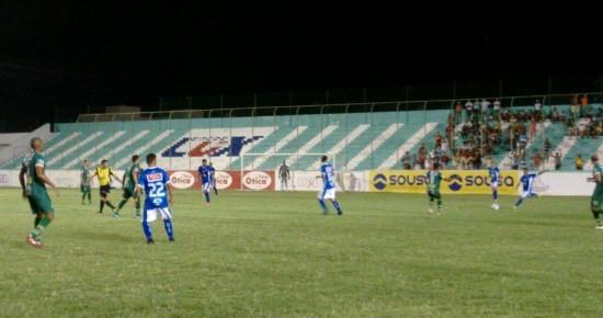 Sousa vence o Atlético de Cajazeiras, mas segue na zona de rebaixamento